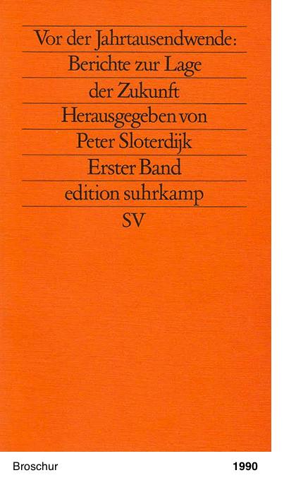 Bericht zur Lage der Zukunft. Erster Band. - Peter Sloterdijk