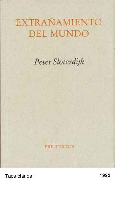 Extrañamiento del mundo - Peter Sloterdijk