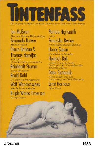 Tintenfass - Magazin für Literatur und Kunst - Peter Sloterdijk