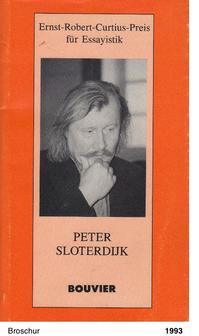 Ernst Robert Curtius Preis für Essayistik 1993 - Peter Sloterdijk