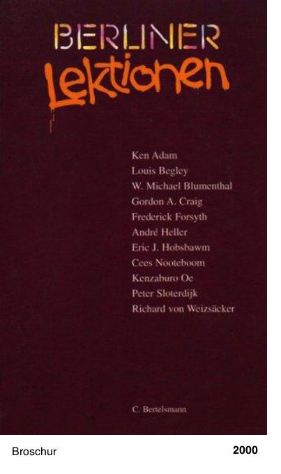Berliner Lektionen (Auswahl 1997-99)
