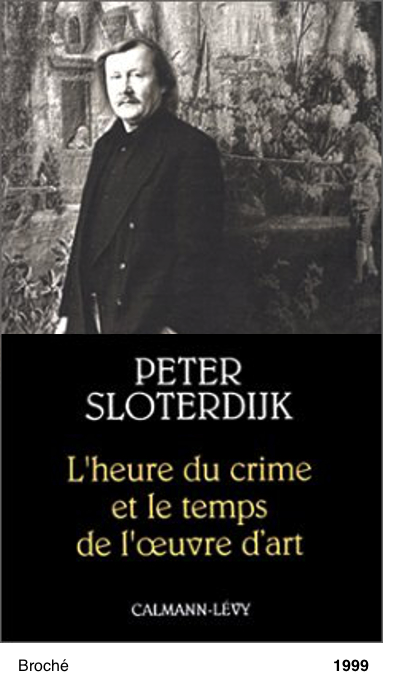 L'Heure du crime et le temps de l'oeuvre d'art - Peter Sloterdijk