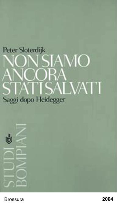 Non siamo ancora stati salvati. Saggi dopo Heidegger - Peter Sloterdijk
