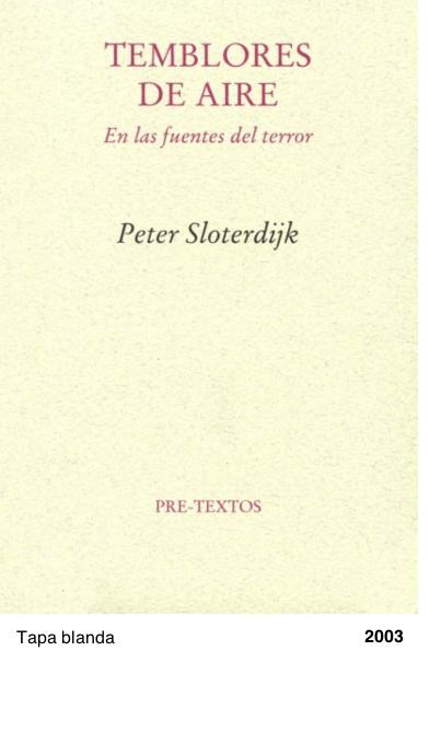 Temblores de aire - Peter Sloterdijk