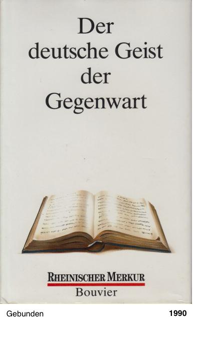 Der deutsche Geist der Gegenwart