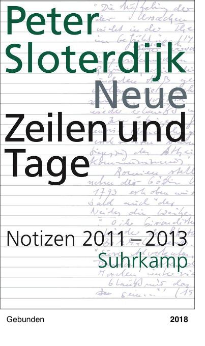 Neue Zeilen und Tage - Notizen 2011-2013, Peter Sloterdijk