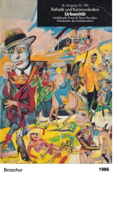 Ästhetik und Kommunikation Urbanität 16. Jahrgang - Peter Sloterdijk