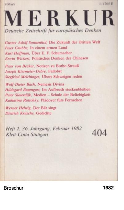 Merkur - Deutsche Zeitschrift für europäisches Denken - Feb. 1982