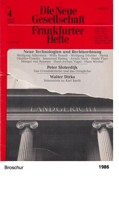 Die Neue Gesellschaft - Frankfurter Hefte - Nr. 4 1986