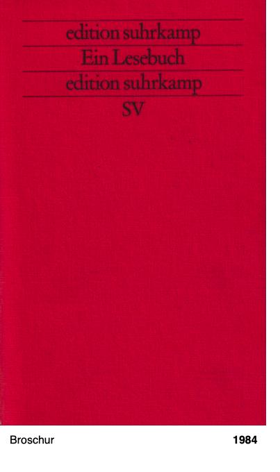 edition suhrkamp - Ein Lesebuch