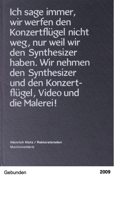 Heinrich Klotz - Rektoratsreden