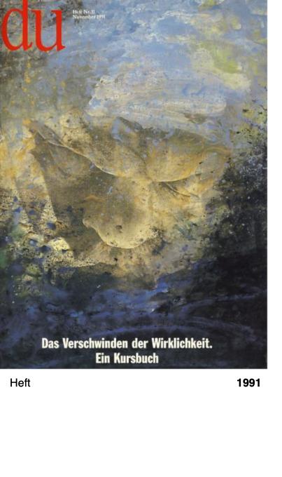Du. Die Zeitschrift der Kultur, Heft Nr 11, 1991