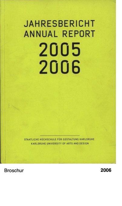 Jahresbericht 2005-2006
