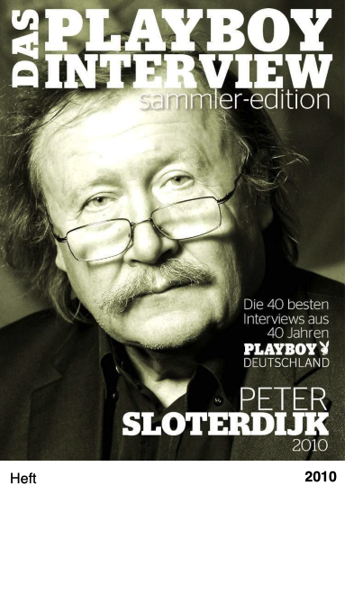Playboy Interview Sammler - Edition Peter Sloterdijk