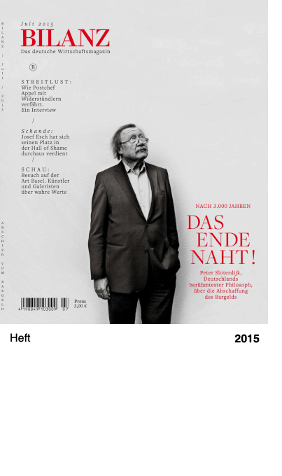 BILANZ Das deutsche Wirtschaftsmagazin, Juli 2015