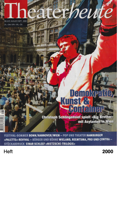 Theaterheute Nr. 8-9 2000