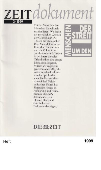 ZEIT dokument 2 1999 - Der Streit um den Menschen