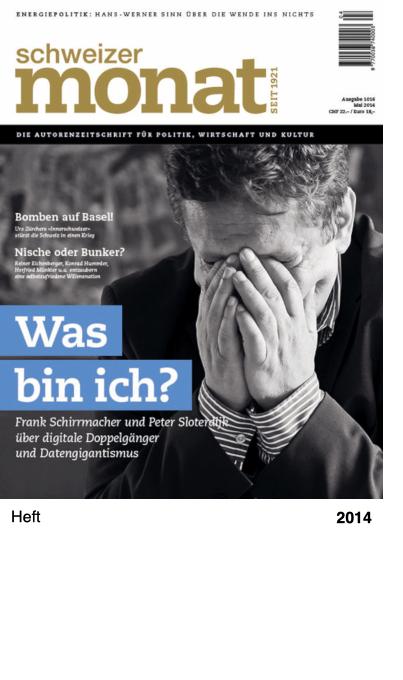 Schweizer Monat, Ausgabe 1016, Mai 2014