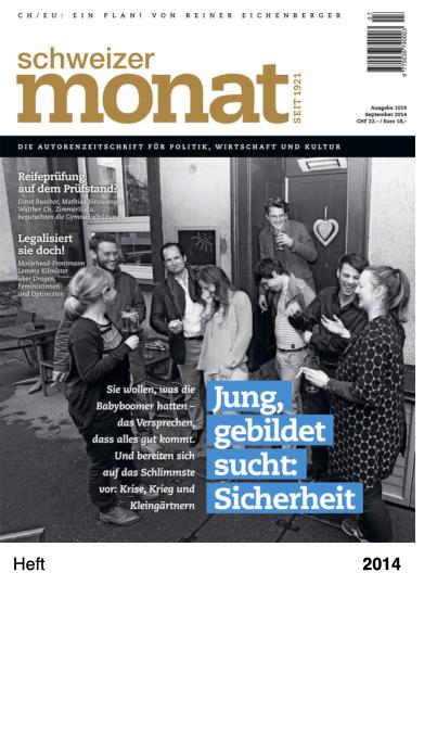 schweizer monat Ausgabe 1019 - September 2014