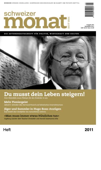 schweizer monat Ausgabe 991 - November 2011