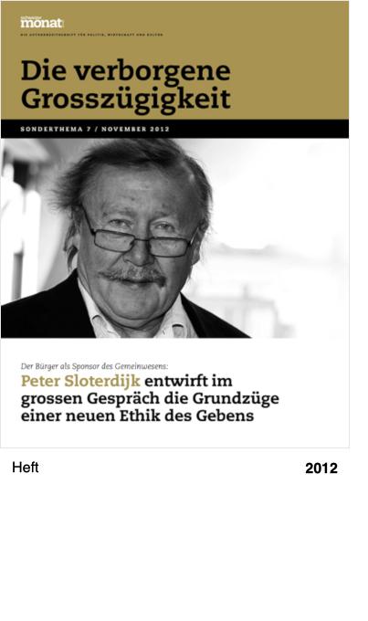 Schweizer Monat, Sonderpublikation 7, November 2012