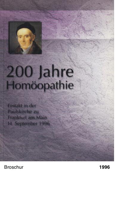 200 Jahre Homöopathie