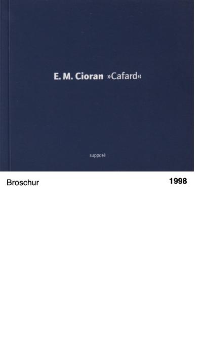 E.M. Cioran «Cafard»